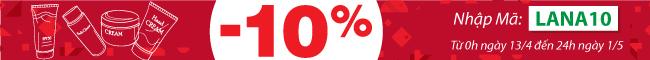 LANA giảm giá 10%